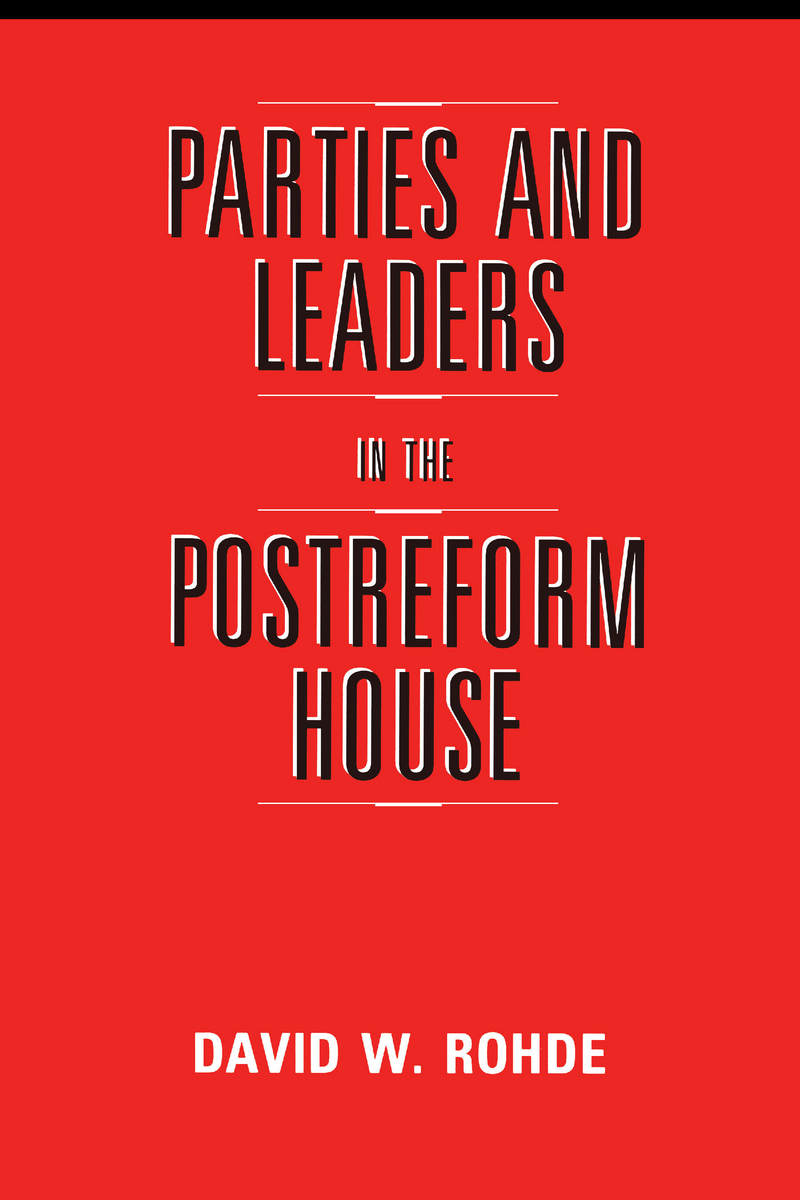 Cover of Parties and Leaders in the Postreform House
