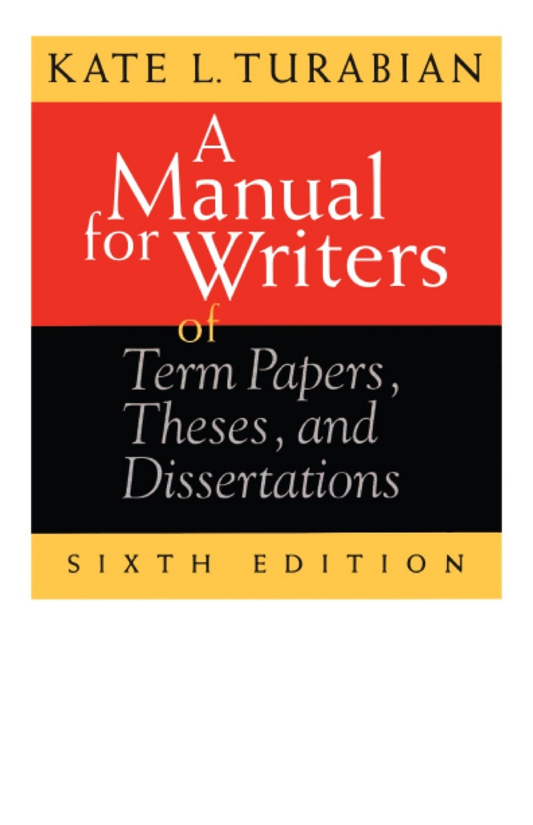 manual for writers of research papers A manual for writers of research papers, theses, and dissertations, eighth edition chicago style for students and researchers kate l turabian.