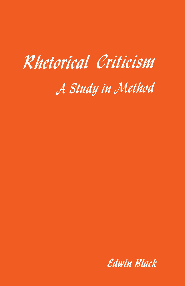 rhetorical criticism exam 1 Rhetorical criticism examination of the devices employed to create a literary unit out of a piece of prose or poetry study of biblical books to assess them from this point of view asks how they accomplish their purpose in communication to the reader.