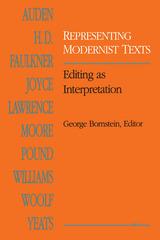 Representing Modernist Texts
