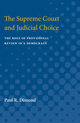 Supreme Court and Judicial Choice