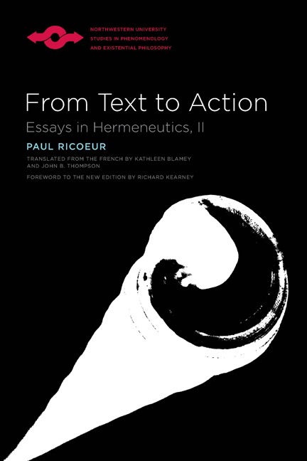 from text to action essays in hermeneutics Paul ricoeur quotes back quote :from text to action: essays in hermeneutics, ii if it is true that there is always more than one way of construing a text.
