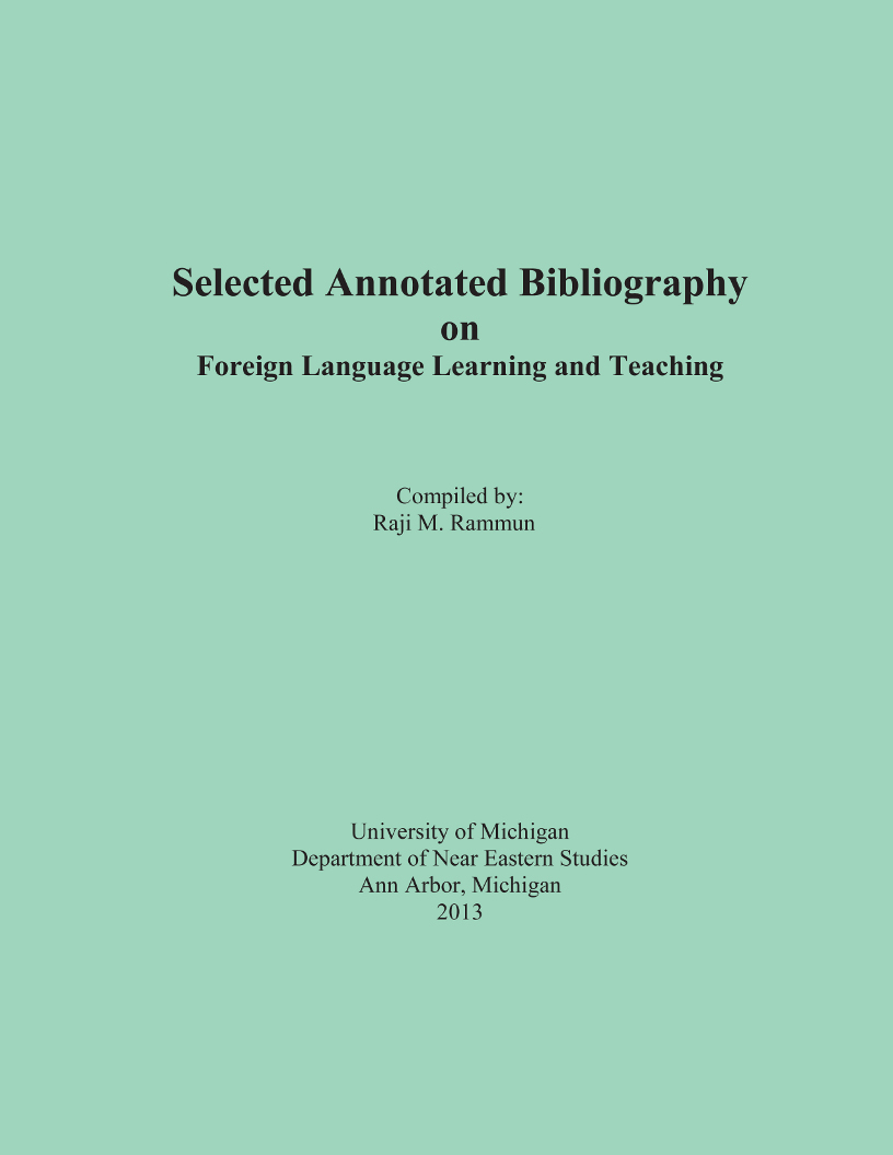a selected annotated bibliography on animal Writing an annotated bibliography is a rather boring task, but one that also requires some creative language however, an annotated bibliography is different it is distinguished by the fact that each source is followed by an annotation from the author.
