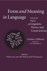 Form and Meaning in Language, Volume III