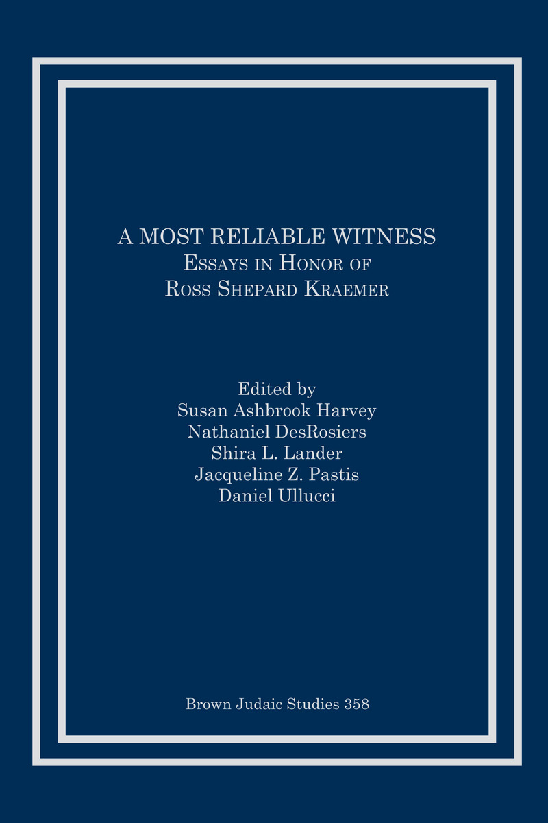 a most reliable witness essays in honor of ross shepard kraemer cover of book
